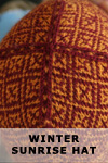 Winter Sunrise Hat